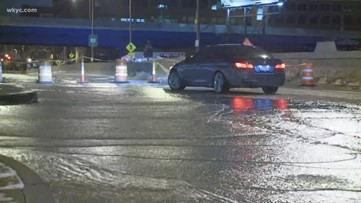 Water main break closes downtown Cleveland streets