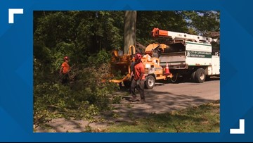 Storm damage clean up continues in Cleveland Heights, Mayfield Heights