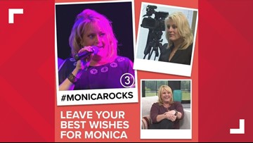 #MonicaRocks: 3News' Monica Robins receives outpouring of support after revealing brain tumor diagnosis