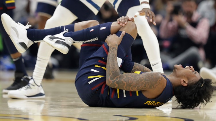 Kevin Porter Jr. suffers knee injury in Cleveland Cavaliers' 118-103 loss to Minnesota Timberwolves
