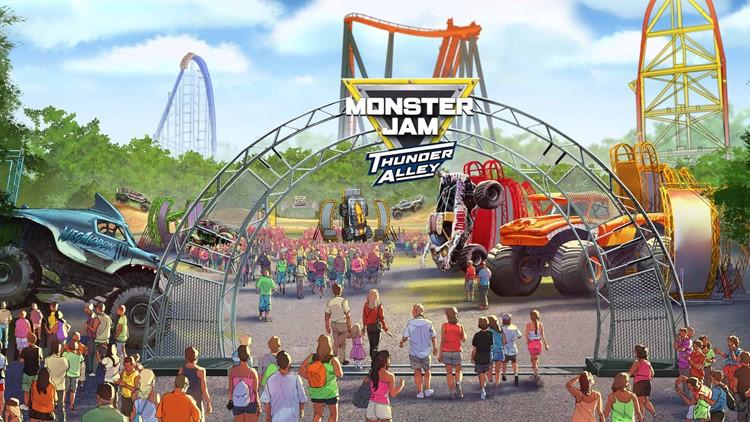 Monster Jam Thunder Alley at Cedar Point image rendering 2019