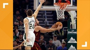 Kevin Love gets another double-double, but Cleveland Cavaliers fall to Milwaukee Bucks 129-112
