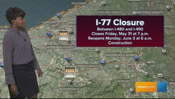 I-77 to be closed all weekend in Cleveland | wkyc com