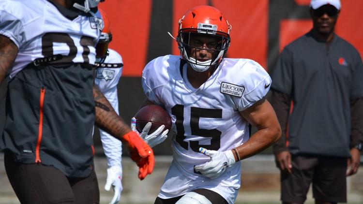 Damon Sheehy-Guiseppi Cleveland Browns Training Camp July 28, 2019