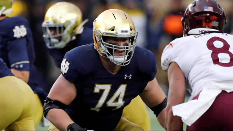 Stock rising: Former St. Ignatius offensive lineman Liam Eichenberg is a possible first-round pick in 2021 NFL Draft