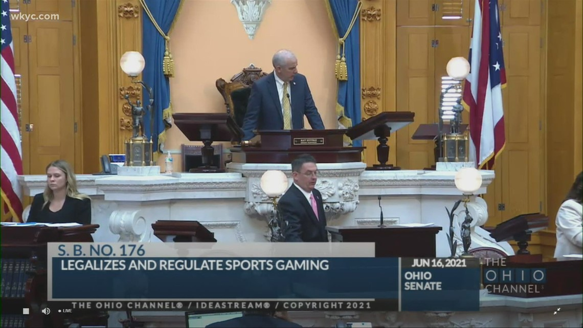 Ohio Senate passes bill to legalize sports gambling; bill moves to House for further consideration