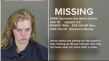 MISSING ' 18-year-old Akron girl has not been seen for 10 days