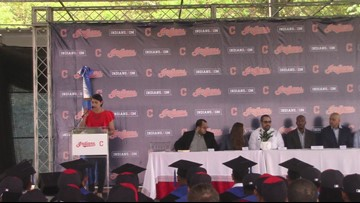 Cleveland Indians present high school diplomas to inaugural class at Dominican Baseball Academy (video courtesy of Cleveland Indians)