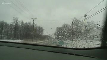 Checking wintry conditions in Lodi as snow and ice continue falling