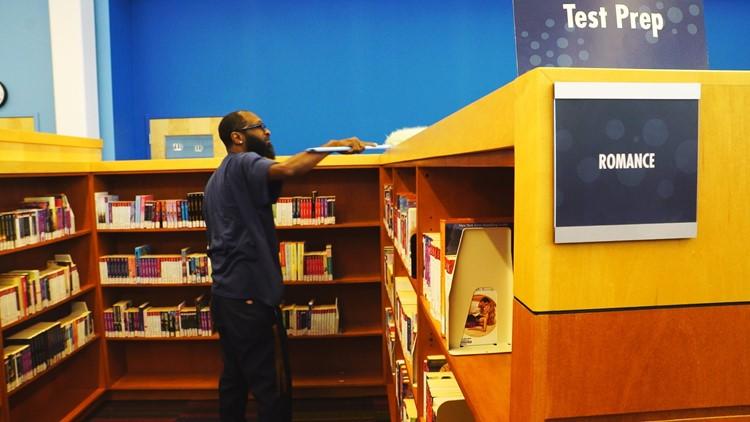 Carlton Letman, Warrensville Heights Library Porter