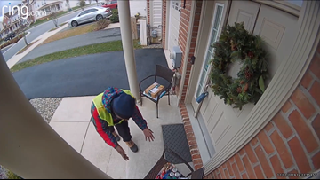 Watch: Amazon delivery worker surprised with free basket of treats on Cleveland Heights porch