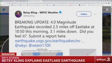 4.0 earthquake hits near Eastlake, Ohio: Betsy Kling explains what happened