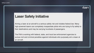 Verify: Do holiday lights, projectors pose a threat to pilots