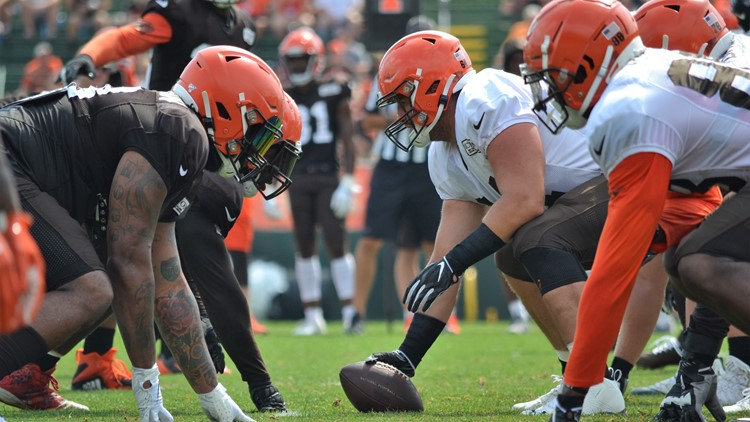 JC Tretter Cleveland Browns Training Camp July 31, 2019