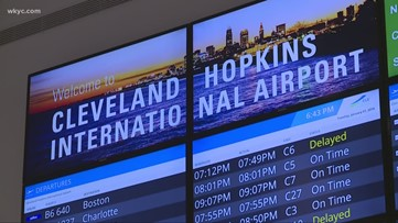 Several flights canceled, delayed at Cleveland Hopkins Airport due to winter storm