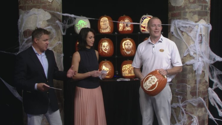 Custom pumpkin carving artist visits Lunch Break with Jay Crawford