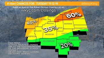 Snow Day? Chief Meteorologist Betsy Kling shares I-Alert chances ahead of wintry blast