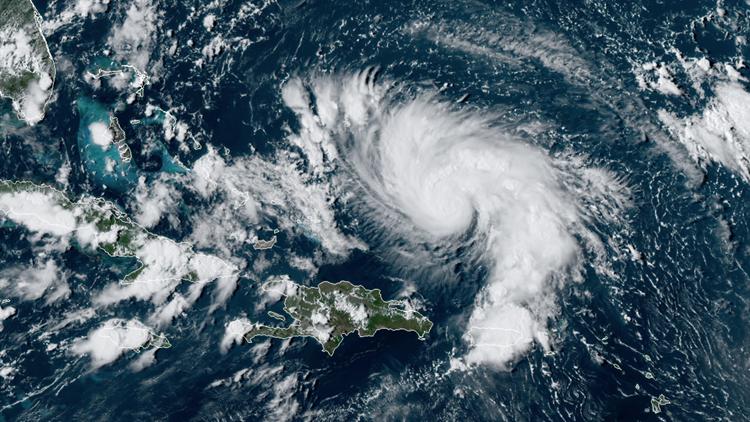 Hurricane Dorian on August 29, 2019