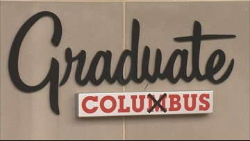Columbus hotel gets new sign because people kept prying the 'M' off