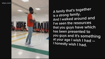 Cleveland Browns WR Jarvis Landry gives speech at LeBron James' I PROMISE School
