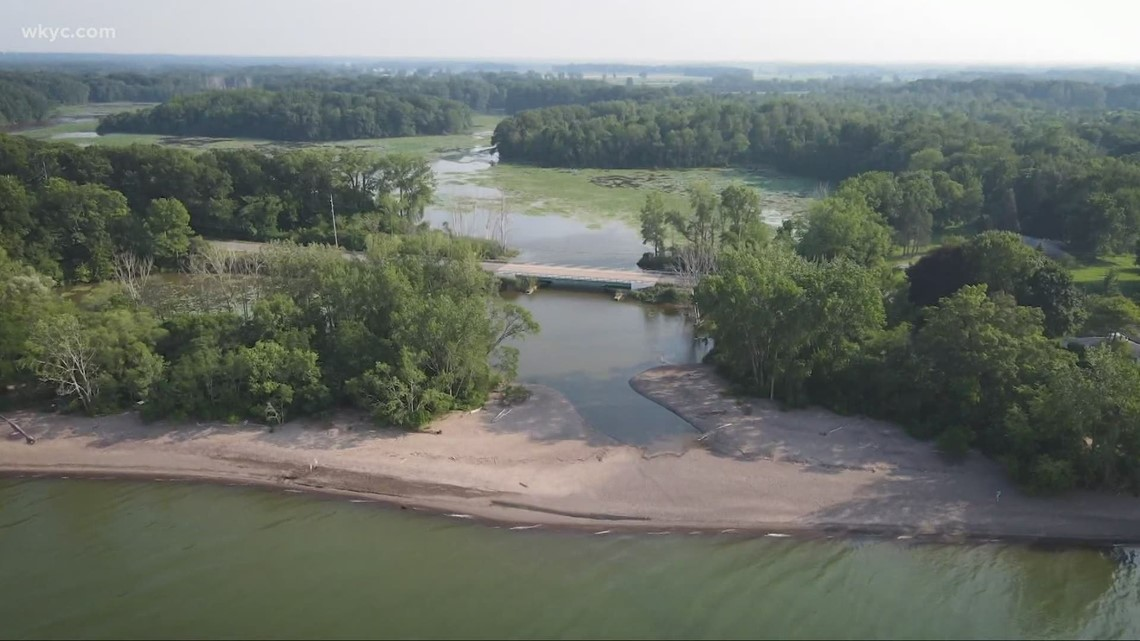 Old Woman Creek in Huron: The history behind its name