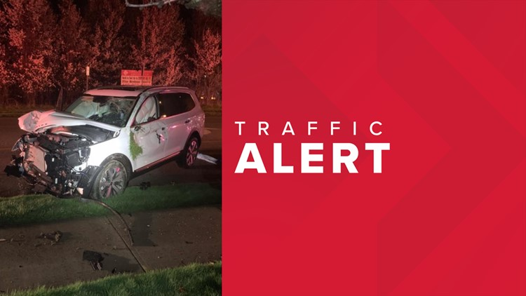 Portion of Detroit Road in Westlake closed after impaired driver strikes telephone pole