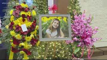 Oliviah Hall is remembered during funeral