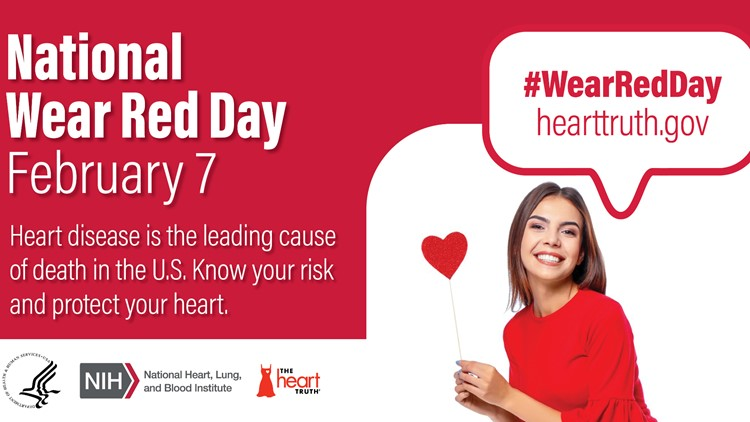 National Wear Red Day is this Friday to raise awareness for cardiovascular disease