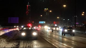 Cleveland Police: 2 officers released from hospital after cruiser struck on I-90 West & I-71 South split on Innerbelt