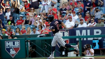 Cleveland Indians hold off Los Angeles Angels 4-3 for sweep; Carlos Carrasco gets win
