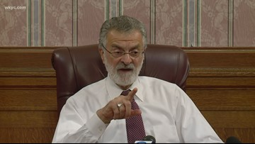 Cleveland Mayor Frank Jackson answers questions following last night's State of the City speech