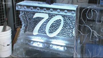 Elegant Ice Creations celebrates WKYC's 70th anniversary