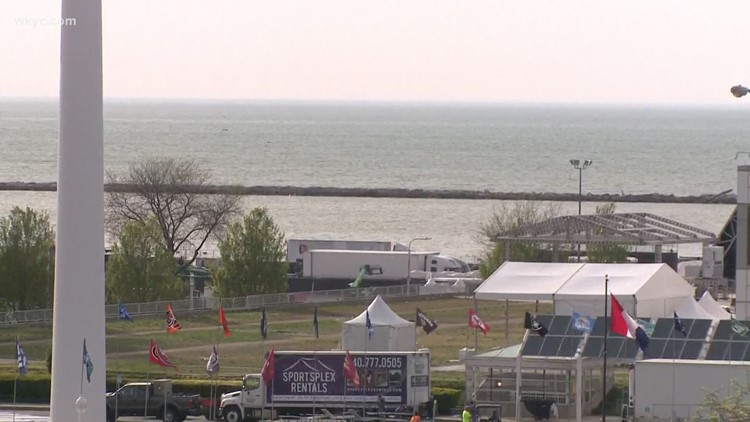 The future of Cleveland's lakefront area up in the air following NFL Draft