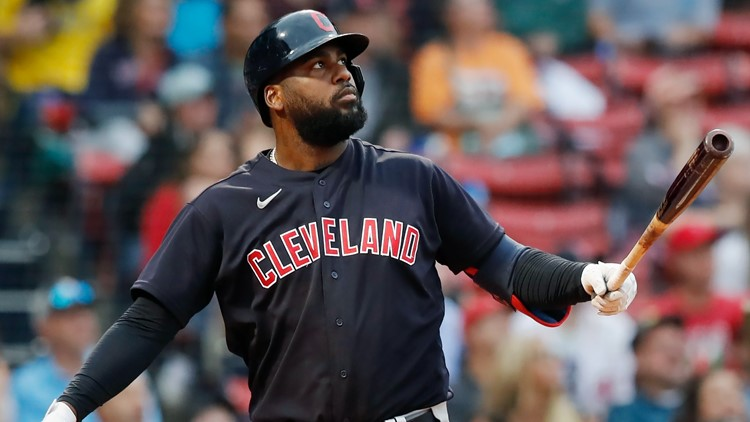 Two scoops! Cleveland Indians' Franmil Reyes credits vanilla ice cream for homer against Boston Red Sox