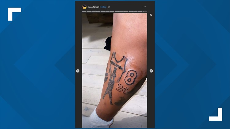 Shareef O'Neal honors Kobe Bryant and Gianna Bryant with tattoos