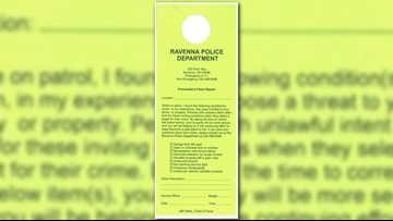 Ravenna Police to implement crime prevention 'door hanger' program