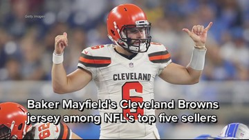 the best attitude 8053d 312ac Baker Mayfield's Cleveland Browns jersey among NFL's top ...