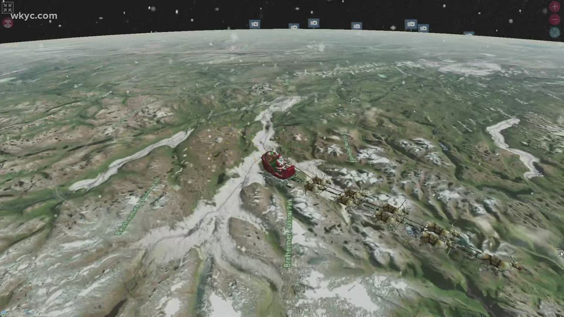Santa Tracker: NORAD is tracking Santa's trip around the world