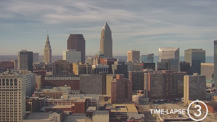 Saturday Cleveland weather time-lapse for January 9, 2021