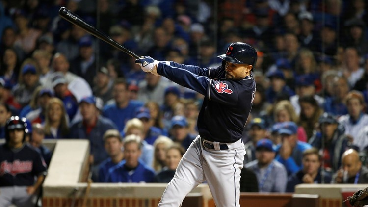 Coco Crisp World Series Cleveland Indians Chicago Cubs Baseball