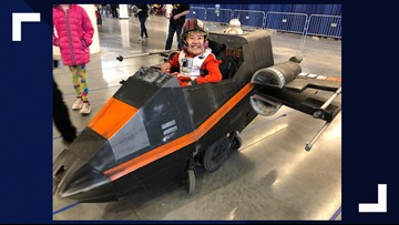 Munroe Falls boy surprised with 'magic' Star Wars wheelchair at Wizard World Cleveland