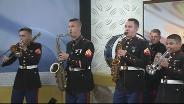 Marine Corps Marching Band performs in WKYC studios