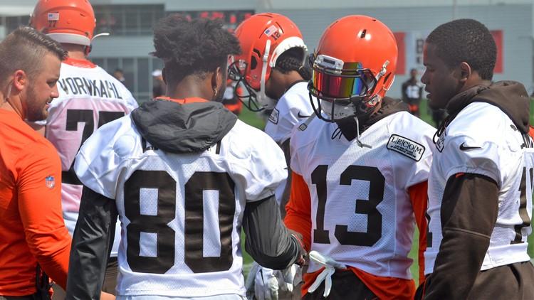 Odell Beckham Jr. Jarvis Landry Cleveland Browns Training Camp August 21, 2019