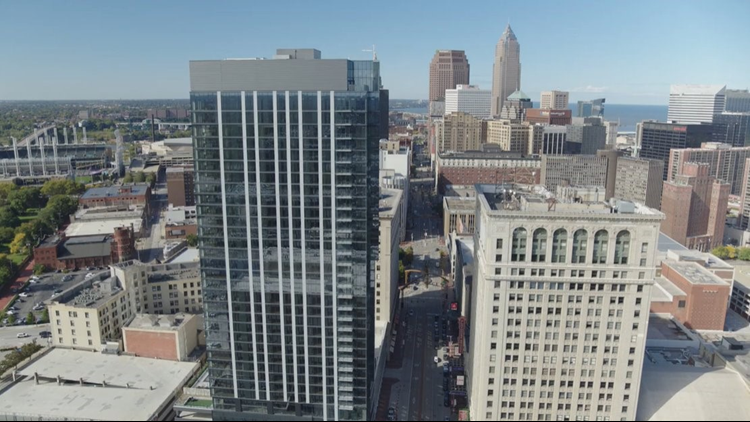 Playhouse Square celebrates completion of The Lumen apartment tower in downtown Cleveland