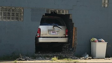 Car crashes into building on Cleveland's west side, driver flees on foot