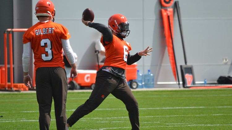 Cleveland Browns QB Baker Mayfield during OTAs 2