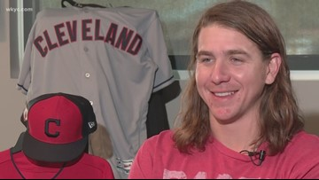 What would Cleveland Indians pitcher Mike Clevinger wish for if he met a genie? See his genius response in 'Beyond the Dugout'