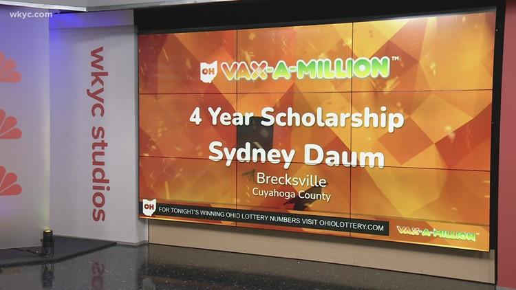Brecksville's Sydney Daum wins final Vax-a-Million full ride scholarship