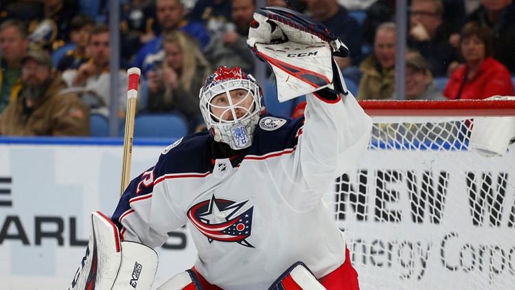 Sergei Bobrovsky Columbus Blue Jackets-Buffalo Sabres Hockey 2