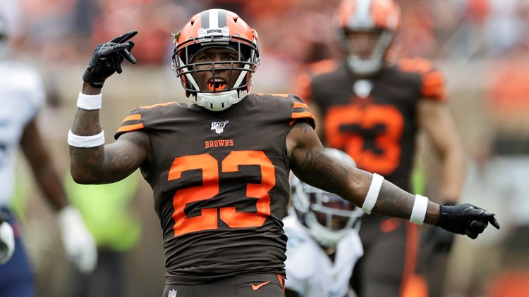 Damarious Randall Tennessee Titans-Cleveland Browns Football